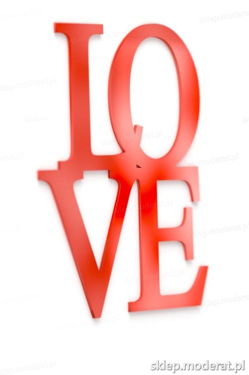 Ozdobny napis ''Love'' - drewniany napis na ścianę efekt lepszy od naklejki