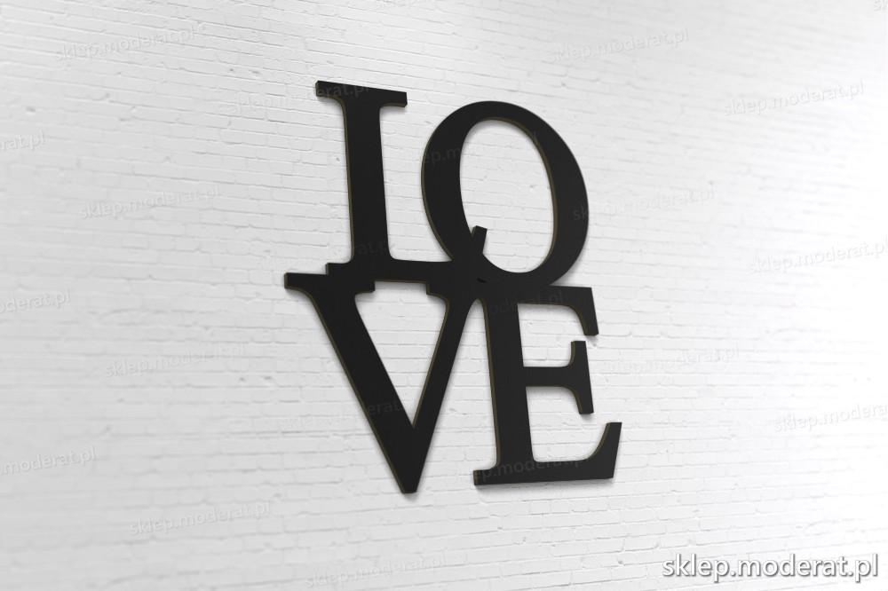 'Love'' napis ścienny 3d - napis 3d zdjęcie na ścianie