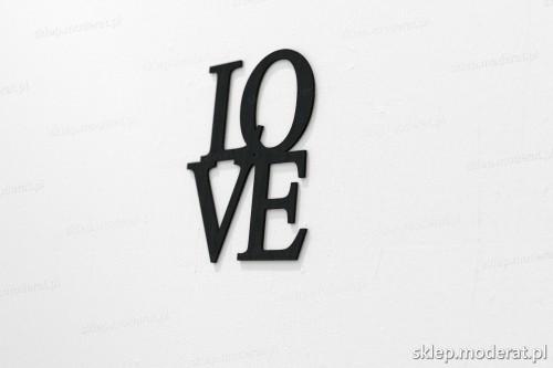 napis na ścianę z czarnej płyty hdf - Love - modny dodatek do wnętrz