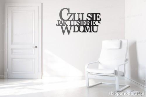 dekoracja na ścianę Czuj się jak u siebie w domu w przedpokoju