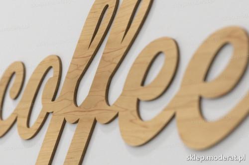 napis dekoracyjny Coffee - drewniane litery ze sklejki