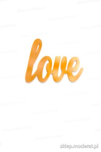 Fajny napis ''Love'' - drewniany napis na ścianę efekt lepszy od naklejki