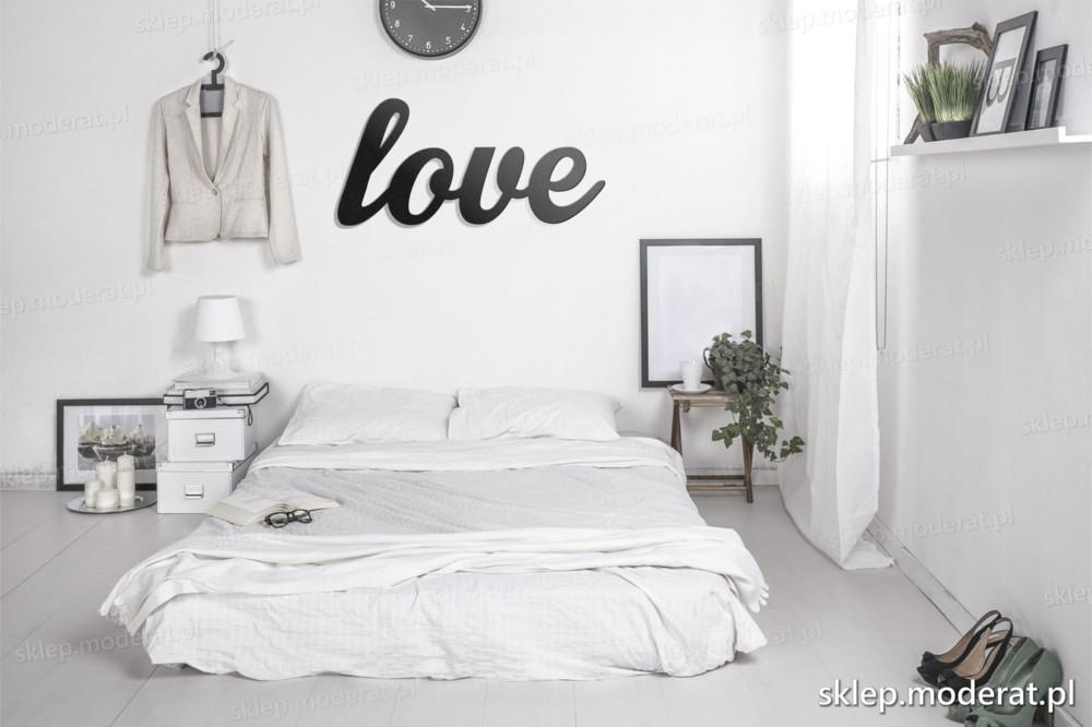 Napis Na ścianę Love