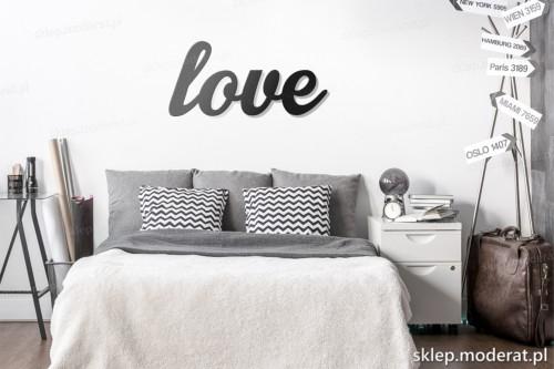 dekoracja na ścianę Love skandynawski styl