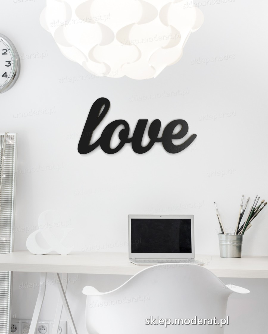 ''Love'' napis ścienny - napis 3d zdjęcie na ścianie