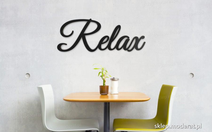 ''Relax'' napis ścienny - napis 3d zdjęcie na ścianie