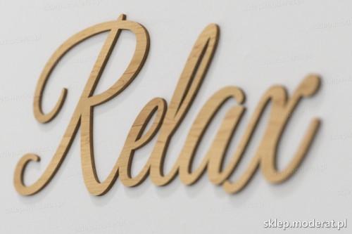 napis dekoracyjny Relax - drewniane litery ze sklejki