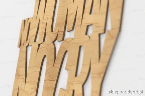 napis dekoracyjny No woman no cry - drewniane litery ze sklejki