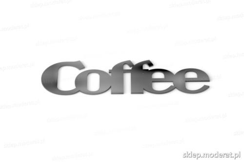 Ciekawy napis ''Coffee'' - drewniany napis na ścianę efekt lepszy od naklejki