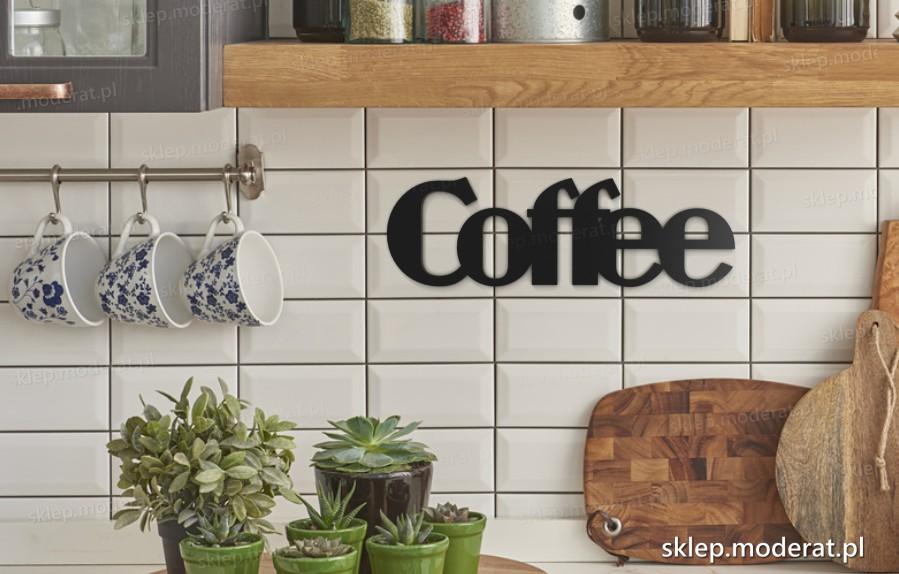 ''Coffee'' napis ścienny - napis 3d zdjęcie na ścianie