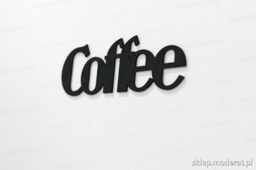 napis na ścianę z czarnej płyty hdf - Coffee - modny dodatek do wnętrz