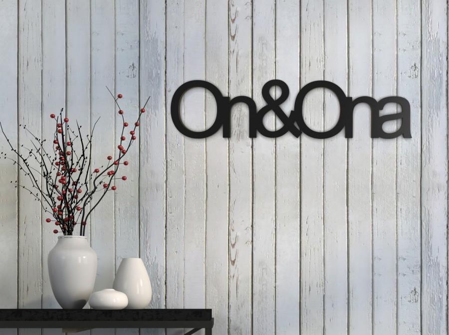 ''Ona i on'' napisy ścienne - napis 3d zdjęcie na ścianie