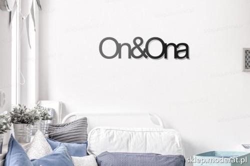 napis na ścianę Ona i on w pokoju młodzieżowym