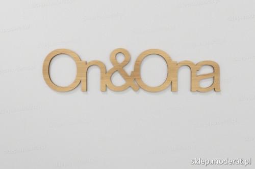 ''Ona i on'' napisy ścienne wycięty laserem ze sklejki brzozowej