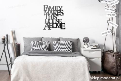 dekoracja na ścianę Family makes this house a home skandynawski styl