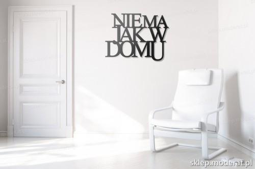 dekoracja na ścianę Nie ma jak w domu w przedpokoju