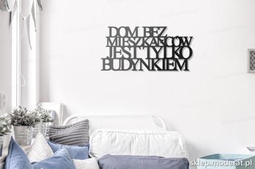 napis na ścianę Dom bez mieszkańców w pokoju młodzieżowym