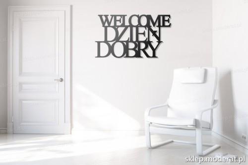 dekoracja na ścianę Welcome dzień dobry w przedpokoju