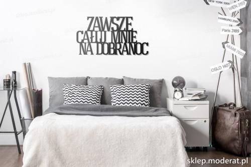 dekoracja na ścianę Zawsze całuj mnie na dobranoc skandynawski styl