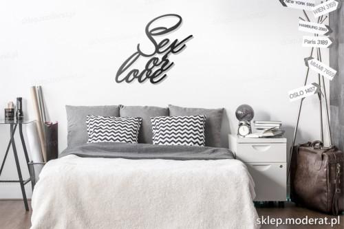 dekoracja na ścianę Sex or love skandynawski styl