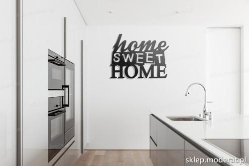 dekoracja na ścianę Home sweet home w kuchni