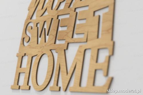 napis dekoracyjny Home sweet home - drewniane litery ze sklejki