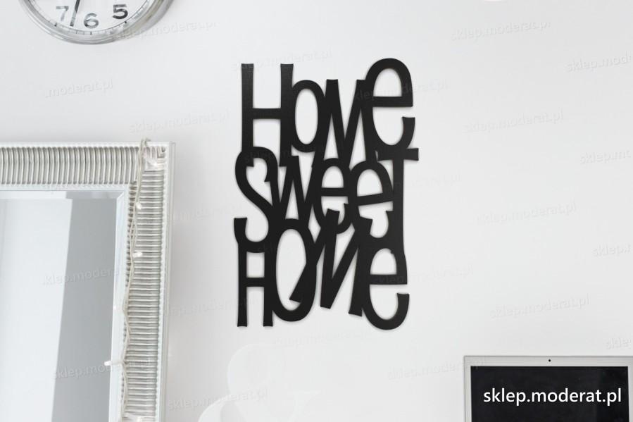 ''Home sweet home'' napisy ścienne - napis 3d zdjęcie na ścianie