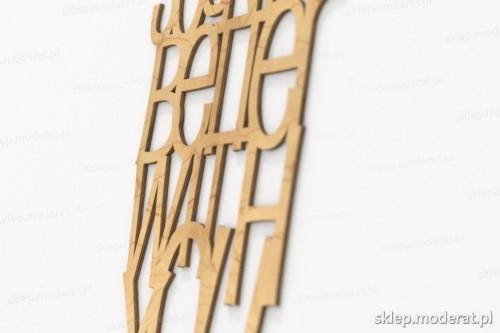 napis dekoracyjny Music sounds better with you - drewniane litery ze sklejki