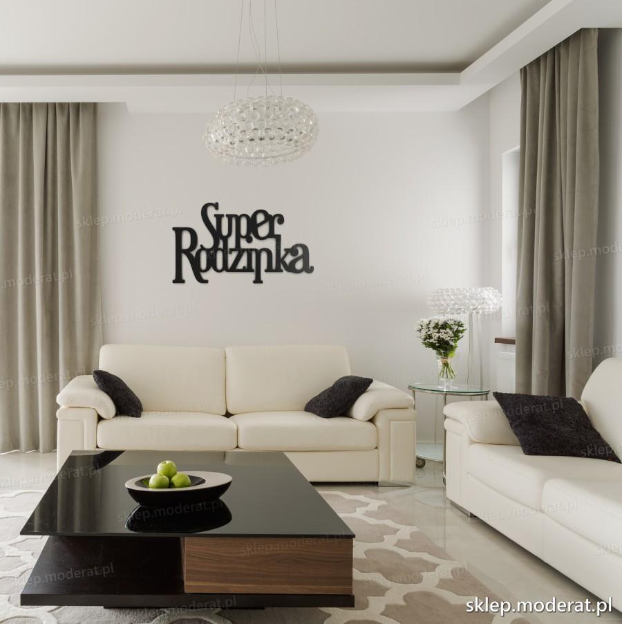 ''Superrodzinka'' napis ścienny - napis 3d zdjęcie na ścianie