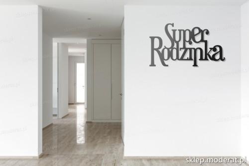 napis 3d Superrodzinka pomysł na pustą ścianę