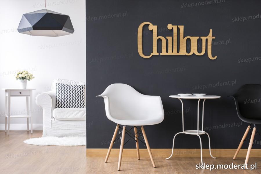 ''Chillout'' napis ścienny - napis 3d zdjęcie na ścianie
