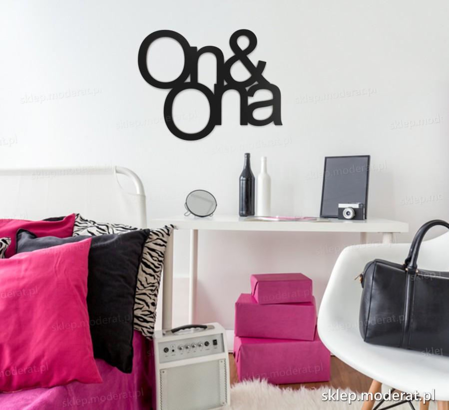 ''On and ona'' napisy ścienne - napis 3d zdjęcie na ścianie