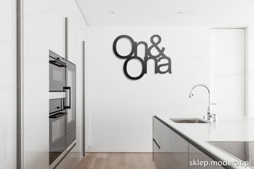 dekoracja na ścianę On and ona w kuchni