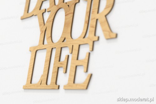 napis dekoracyjny Today is the best day of your life - drewniane litery ze sklejki