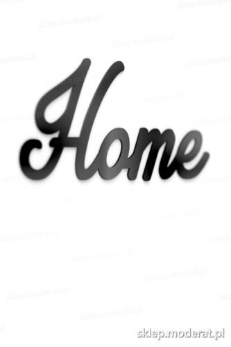Efektowny napis ''Home'' - drewniany napis na ścianę efekt lepszy od naklejki