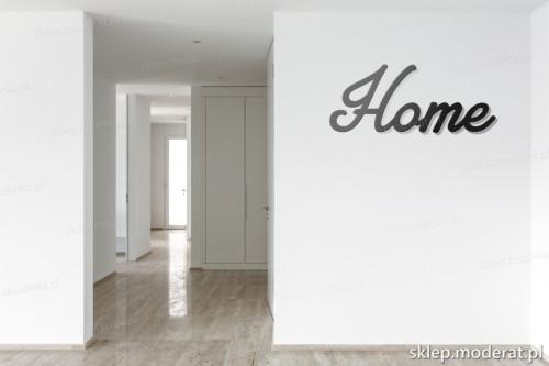 napis 3d Home pomysł na pustą ścianę