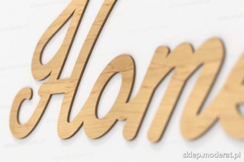 napis dekoracyjny Home - drewniane litery ze sklejki