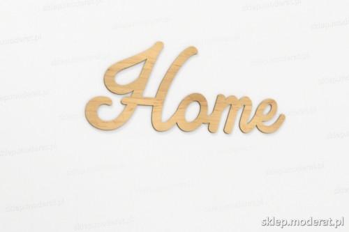 ''Home'' napis ścienny wycięty laserem ze sklejki brzozowej