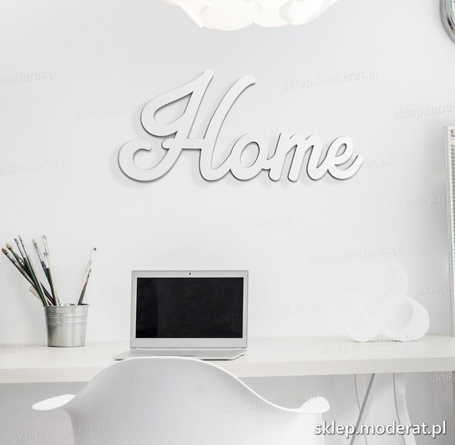 ''Home'' napis ścienny - napis 3d zdjęcie na ścianie
