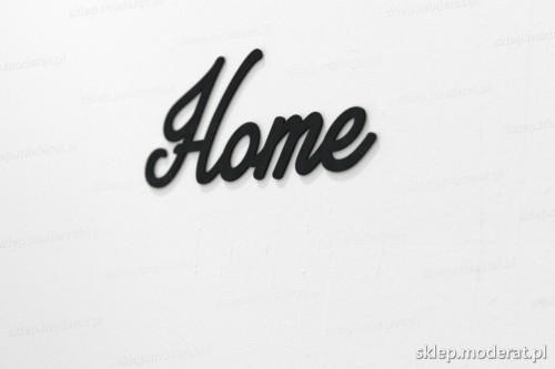 napis na ścianę z czarnej płyty hdf - Home - modny dodatek do wnętrz